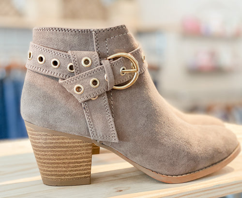 Morrison Suede Bootie with Buckle
