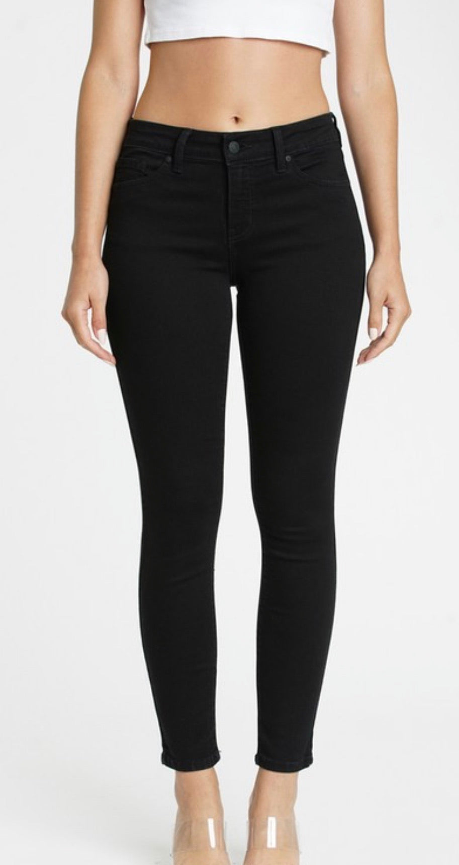 Black Jude Ankle Skinny Jeans