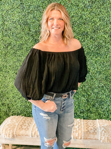 Off the Shoulder/Square Neck Top