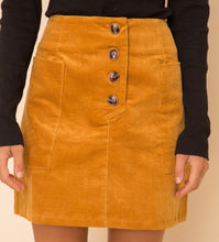 Load image into Gallery viewer, Wide Pocket Corduroy Skirt