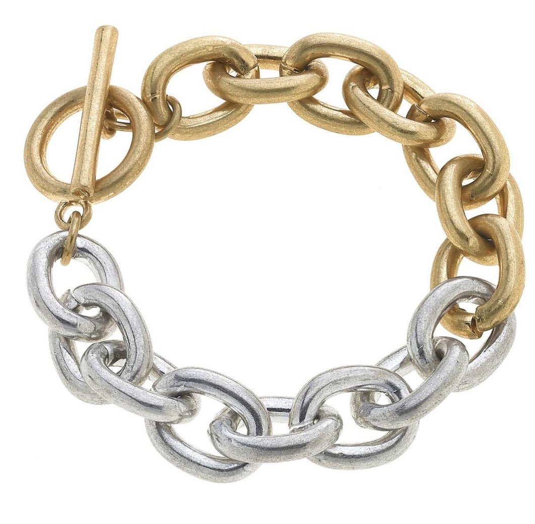 Juliana Chunky Chain Link T-Bar Bracelet
