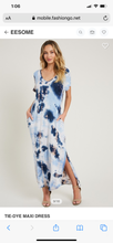Load image into Gallery viewer, Navy Tie Dye Dress