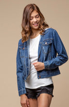 Load image into Gallery viewer, Denim Jacket with Grey Hoodie