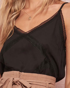 V-neck Lace Trim Cami