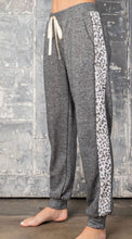 Load image into Gallery viewer, Charcoal Leopard Joggers