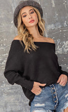 Load image into Gallery viewer, Off the Shoulder Ribbed Sweater