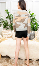 Load image into Gallery viewer, Camo Print Sweater