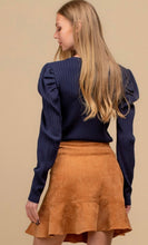 Load image into Gallery viewer, Side Button Corduroy Flounce Hem Skirt
