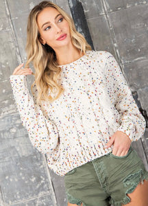 Polka Dot Chenille Sweater
