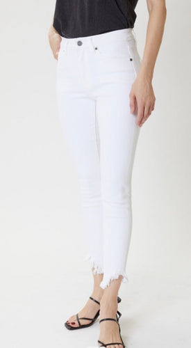 White High Rise Super Skinny Jeans