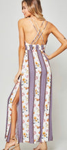 Load image into Gallery viewer, Floral Open Back Maxi Dress