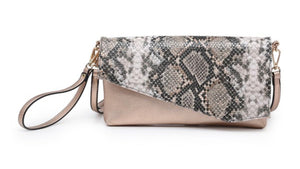Asymmetrical Animal Print Crossbody