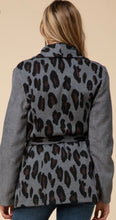 Load image into Gallery viewer, Leopard Print Shawl Collar Jacket