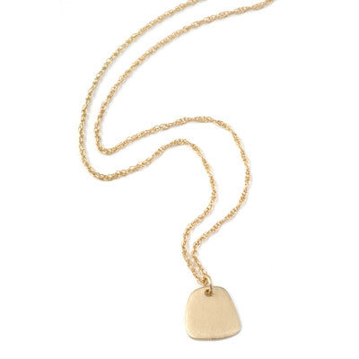 yellow gold trapezoid necklace