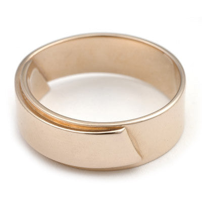 gold overlap ring