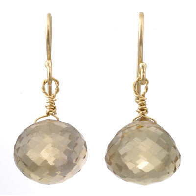 briolette drop earrings