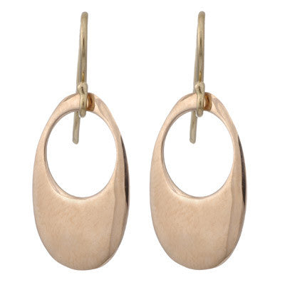 open oval drop earrings