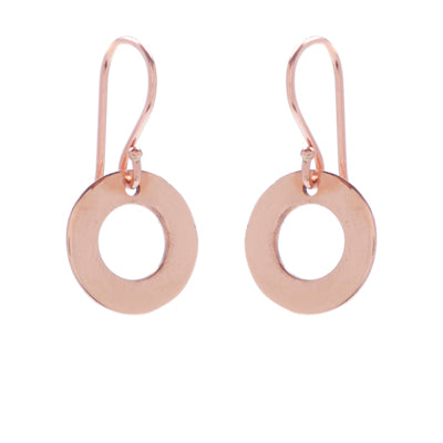 mini open circle drop earrings