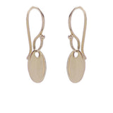 mini oval drop earrings