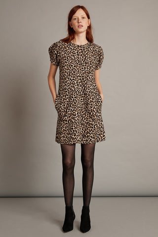 Jolene Leopard Sweater Dress