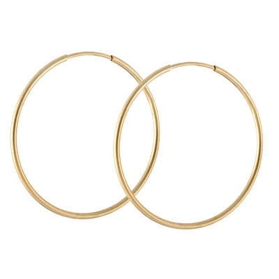 medium yellow gold perfect endless hoop earrings