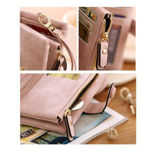 Load image into Gallery viewer, Women's Leather Tri-Fold Wallet