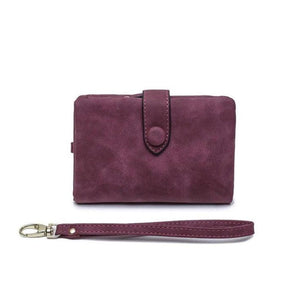 Women's Leather Tri-Fold Wallet