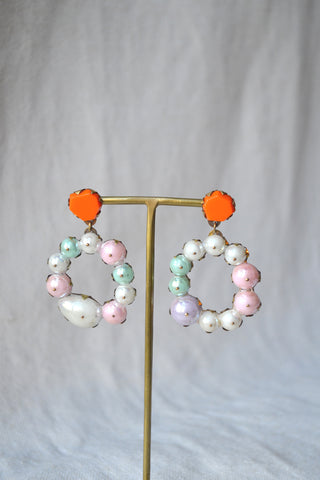 Flower Hologem Earrings