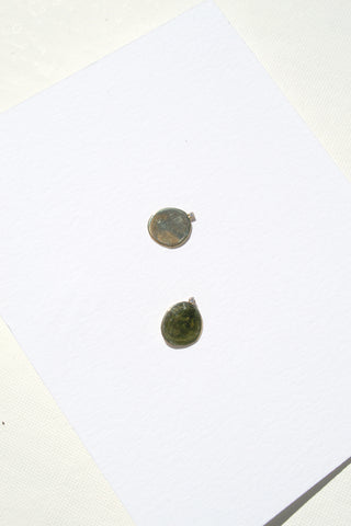 X Large Disc Studs with Diamonds