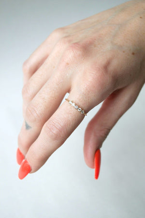 Five Bezel Ring
