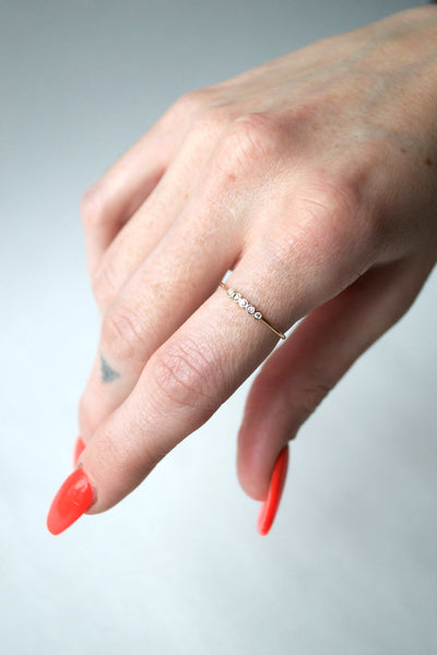 Tiny Five Bezel Ring