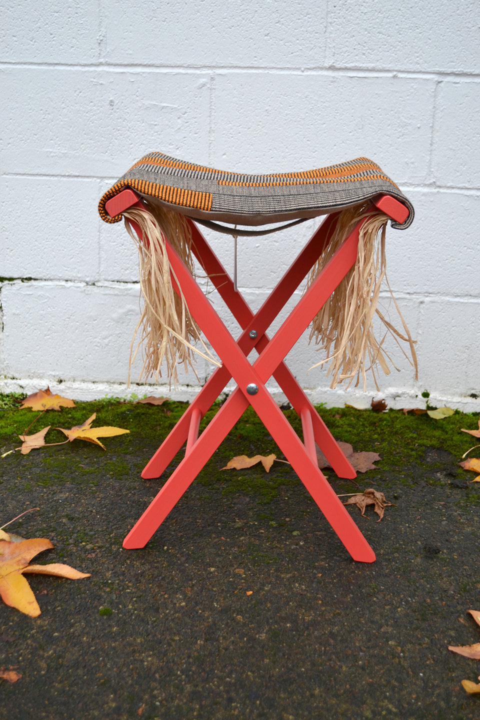 Folding Stool- New Exotic Cool Red