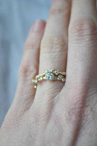 Encrusted Tiny Branch Ring