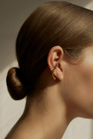 Eiltrud Ear Cuff, Gold or Silver