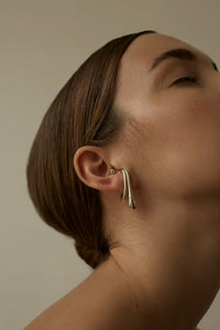 Pei Silver Ear Piece with Peridot