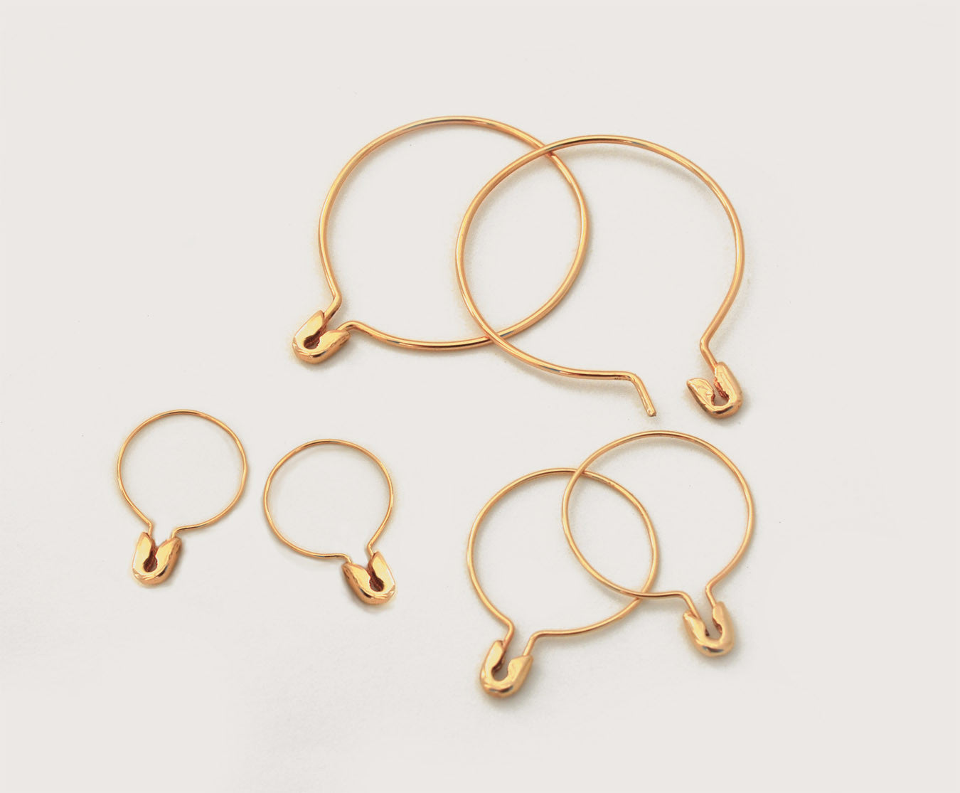 Small Safety Pin Hoop Earring