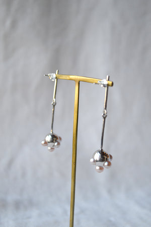 Silver Pearl Ora Earrings