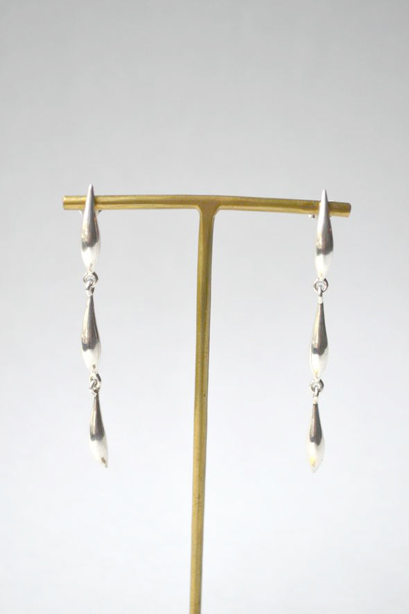 Silver Lor Triple Lean Earrings