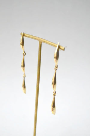 Brass Lor Triple Lean Earrings