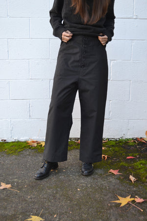 Hiking Black Cotton Pants