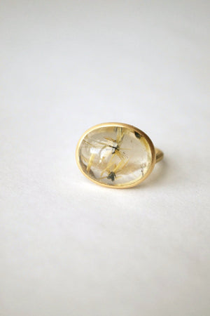 Star Rutilated Quartz Ring