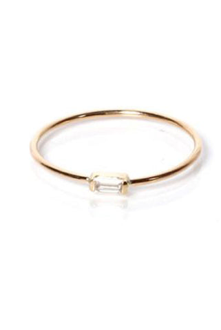 Horizontal Baguette Ring
