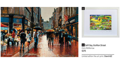 One of my paintings of Grafton Street, Dublin featured in the Gift Guide of the Craft Fair