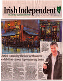 A newspaper article about Chris McMorrow Artist in the Irish Independent