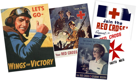 A collection of posters from WW2 era created for the film