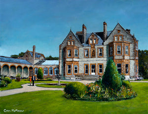 Original acrylic painting of Castle Leslie, County Monaghan