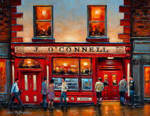 Painting of O'Connells Bar , Dublin 2