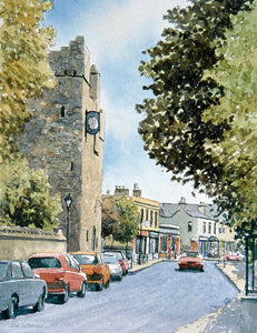 Watercolour of Dalkey Village, Dublin