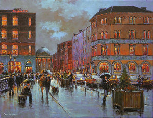 PAinting of Grattan Bridge near Capel Street, Dublin