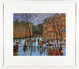 CROSSING COLLEGE GREEN - FRAMED print